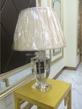 Crystal candelabra bead table lamp