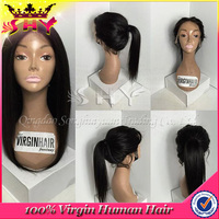 2015 wholesale cheap human full lace india remy hair wig shop