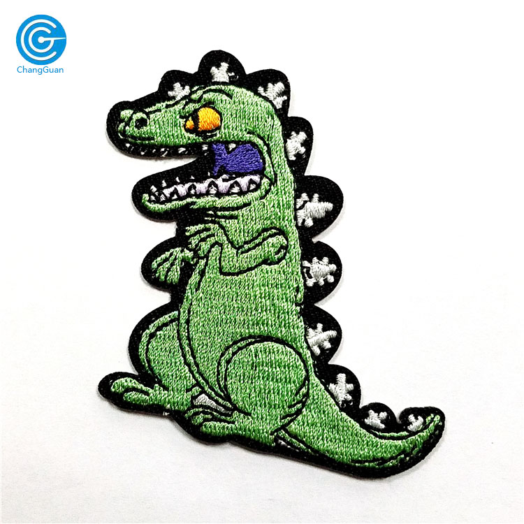 CG02 Promotional Fabric Logo Embroidery Patch Custom Iron Crocodile Embroidery Patch for Cloth China Factory