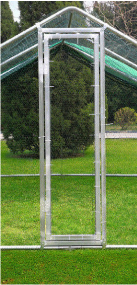 4M X 4M chicken run walk in pet coop for dog rabbit hen cage pen frim metal door