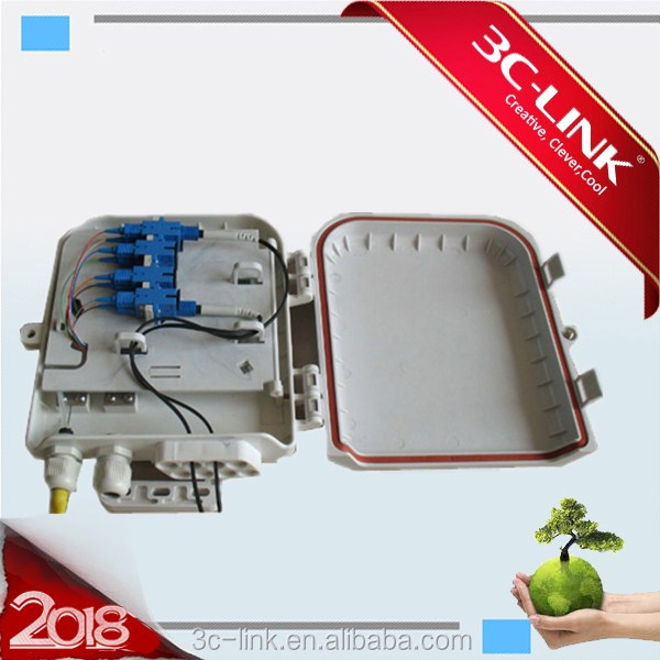 6 ports terminal Box outdoor test terminal Box for FTTH Network/Fiber Optic wall mounted 6 ports SC indoor terminal box