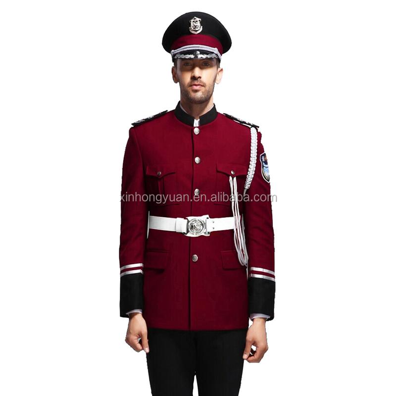 Bordeaux Red Design Security Guard Uniform,Marching Band Uniform ...