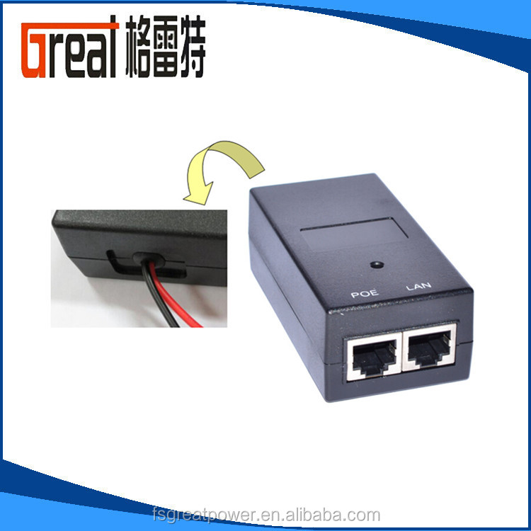 24v poe adapter (grt-240050A) 1000m ethernet switch AC DC POE injector POE20 in telecommunication/network wifi/voip phone