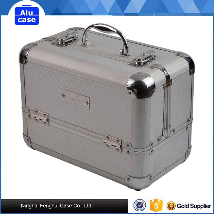 PU leather beauty cosmetic case / cosmetic trolley case