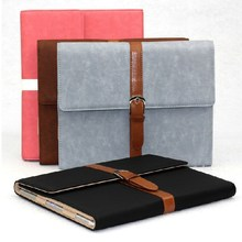 2015 Custom business notebook design belt clip leather10.1 inch tablet case