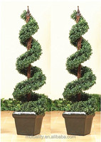 Best selling high quality artificial topiary spiral artificial boxwood spiral tree for decration