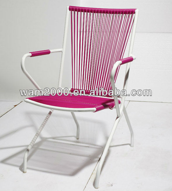 steel PE round wicker chair
