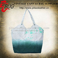 Fashionable Canvas Dip Dye Tote bag/Canvas Hangbag for girls