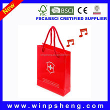 music drawstring gift bag