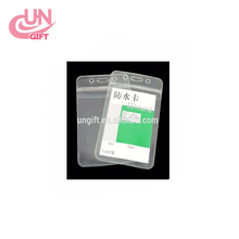 Clear vinyl protector sleeve for credit card/business card
