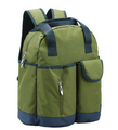 Green 300D Polyester Best Diaper Backpacks with Bottle Bag