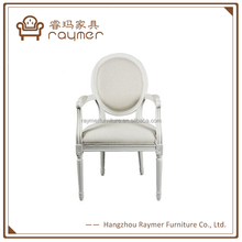 French Wholesale Louis Wooden Dining Chair White Wedding Chairs