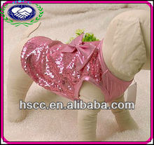 China Wholesale High Quality Pink Sequins Butterfly Pet Vest Dog Cloth