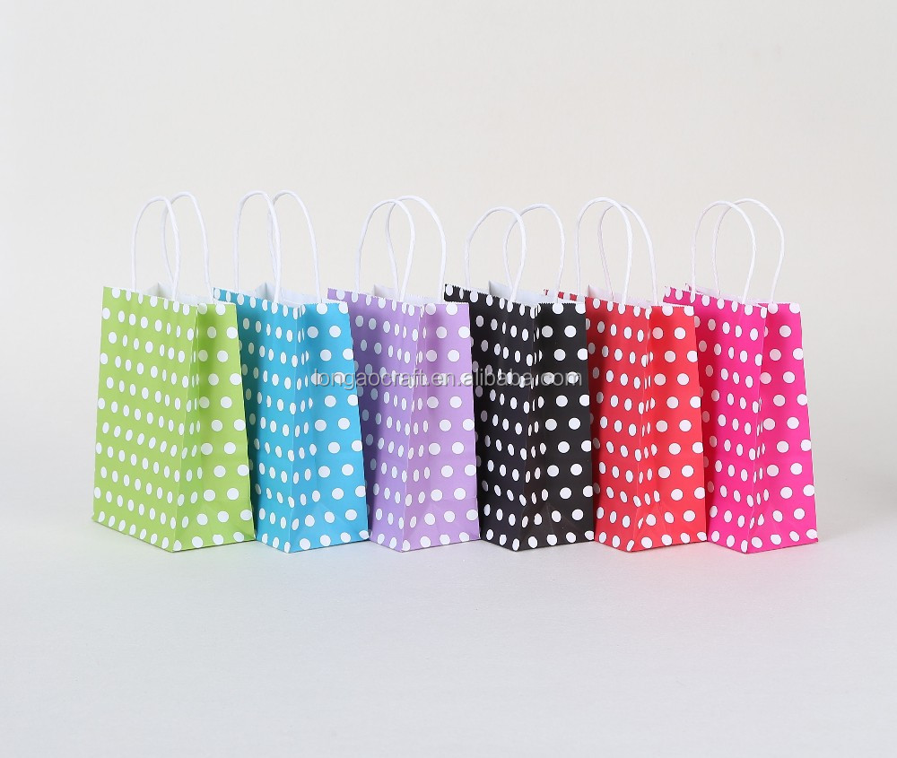 (China suppliers)Wave point shopping paper bag/Accept custom logo