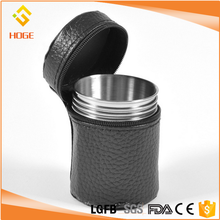 China Factory 1 Set of 4 Stainless Steel 170ML Outdoor Camping Cup Mug Drinking Beer Water Coffee Tea with Free Case