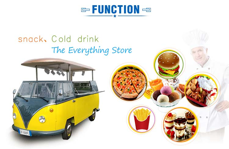 New Arrival mobile electric VW outdoor food Van food truck