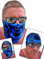 multifunctional blue polyster Skull Tube half Face Mask Motorcycle/sport /ski seamless custom bandana for bicyle