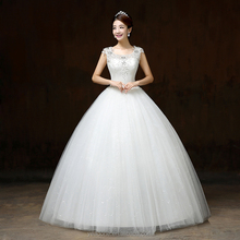 In Stock China Suzhou Cheap Crystal Beaded Wedding Gowns