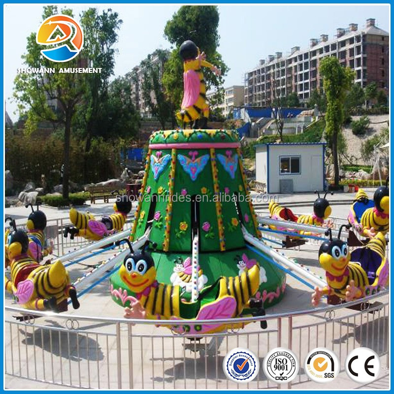 Amusement facilities rotating bee kiddie ride