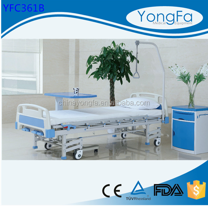 YFC Eight Legs and three crank used hospital beds for sale, manual patient hospital bed