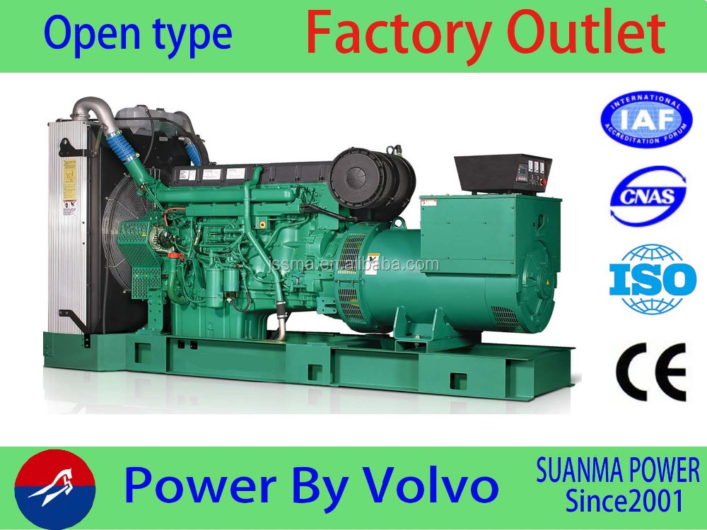 Volvo 80KW diesel generator sets 100KVA genset with high quality engine