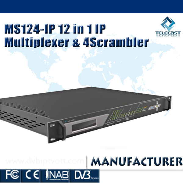 Telecast IP Scrambling Device(12 Inputs &4 Outputs)
