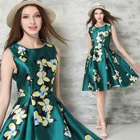 B10819A high fashion printed womens dresses,dress designers fashion dress womens clothing ,summer dress women ODM manufacturer