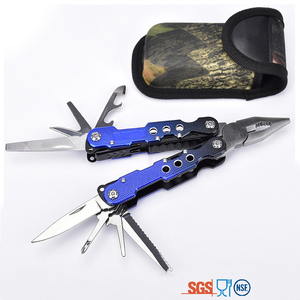 Top quality color stainless steel folded multitool with AUTO lock