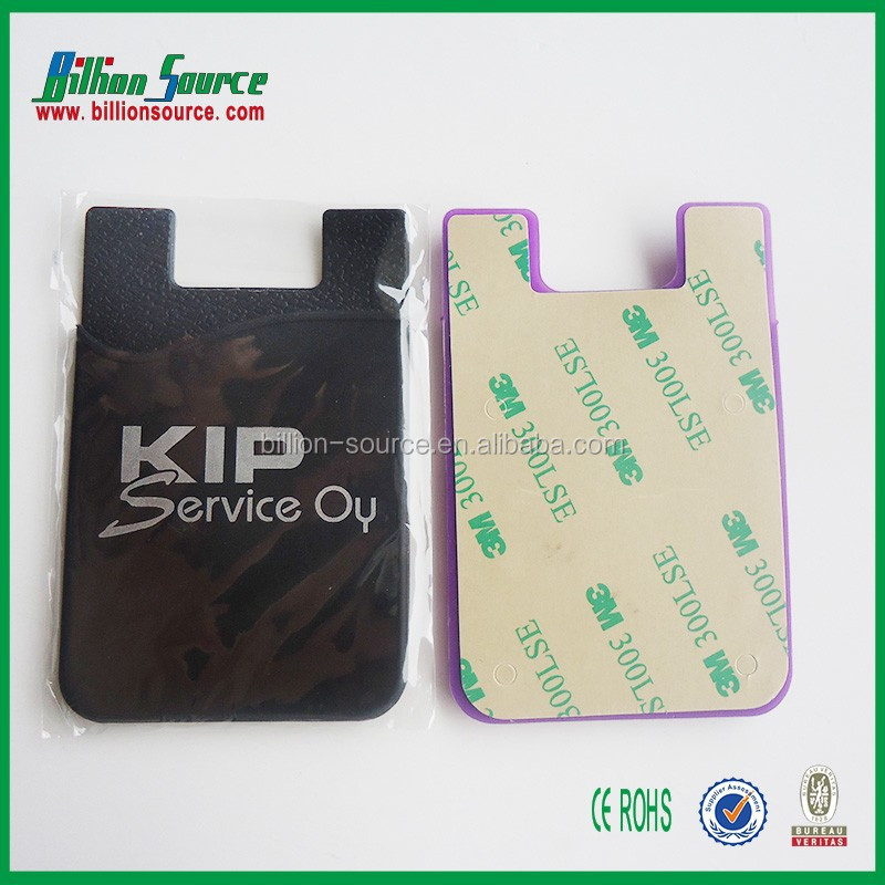 2016 universal silicone phone card sleeve for any models