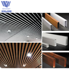 Hot-sale strip wood grill aluminum false ceiling design