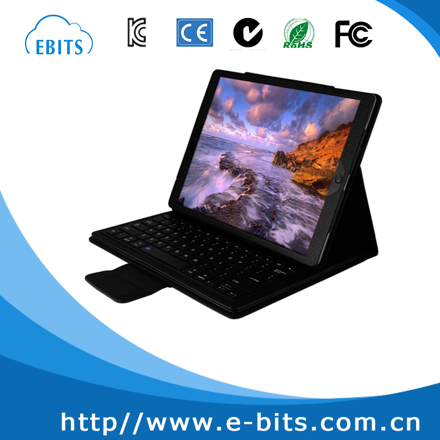 "Magnetically Detachable Hidden Wireless Bluetooth Keyboard Muti-angle Folio PU Leather Case Smart Cover For iPad Pro 12.9"" 2015"