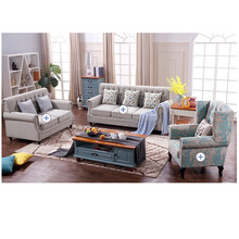 Hot selling elegant sectional standard single sofa size sofa linen sofa