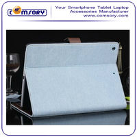 Denim Blue Wallet Style with Stand function Protective Case Cover for iPad Air