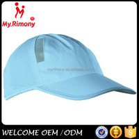 Blank unisex breathable fabric sports caps and hats for summer