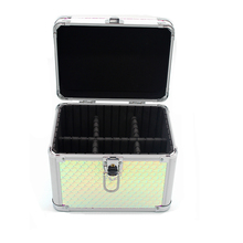 Aluminum personalized fancy beauty nail polish cosmetic makeup vanity box