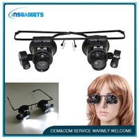 Portable surgical headlight loupes ,h0t146 magnifier eye glasses magnifying binocular loops , eye glasses magnifier for tv