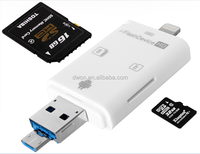 USB 3.0 camera card reader for iphone otg flash drive iflash drive for iphone and android