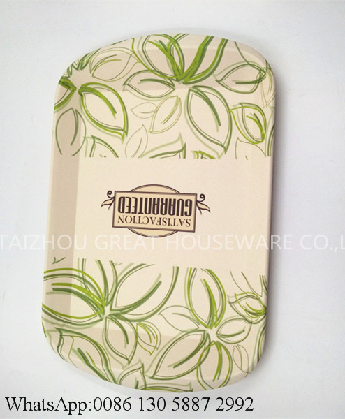 Great Brand Bamboo Fiber Food Serving Tray Cheap Bamboo Trays