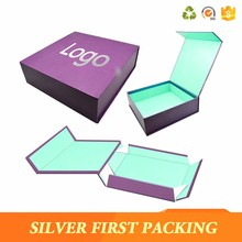 Magnetic gift box matte black foldable paper packaging boxes