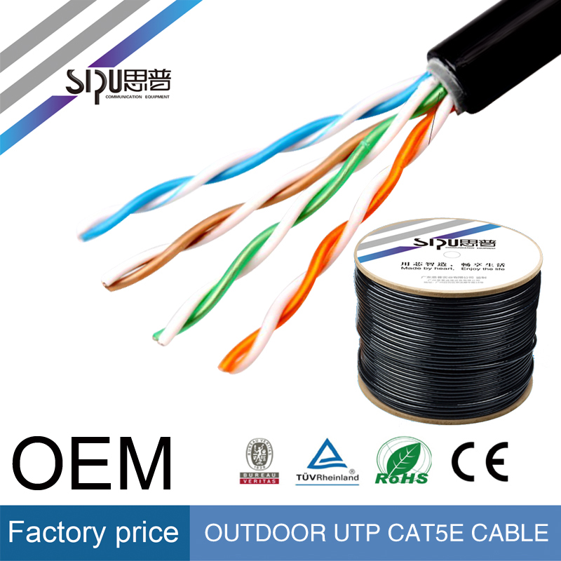 SIPU high speed outdoor cat5e cat6 utp/ ftp/ sftp network cable wholesale cat5 outdoor cable best price cat 6 ethernet cable