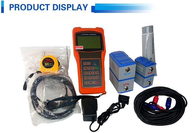 low price portable sea water ultrasonic flow meter with rs232 protocol