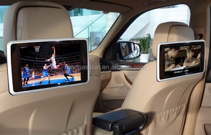 Portable Car Rear Seat Monitor With MP5 Player and Touch Screen Car Entertainment System Headrest Monitor