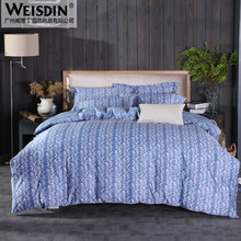 100% cotton luxury european style printed bedding set for home used