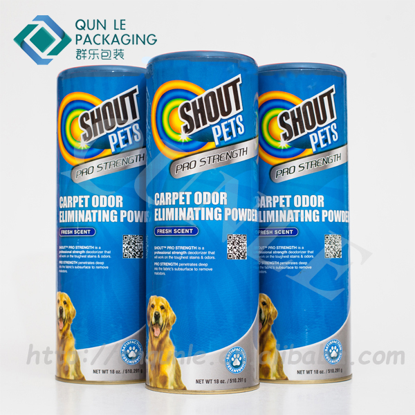 Cylinder Paper Pet food packaging box paper pet food packaging container