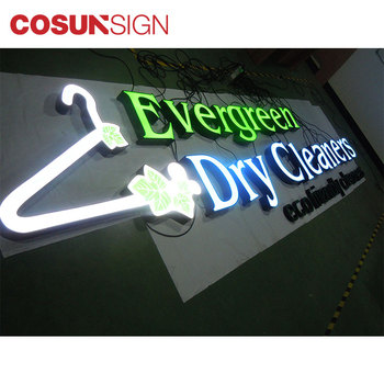 Customized made shop and business wall signs Exterior building illuminated letter signages