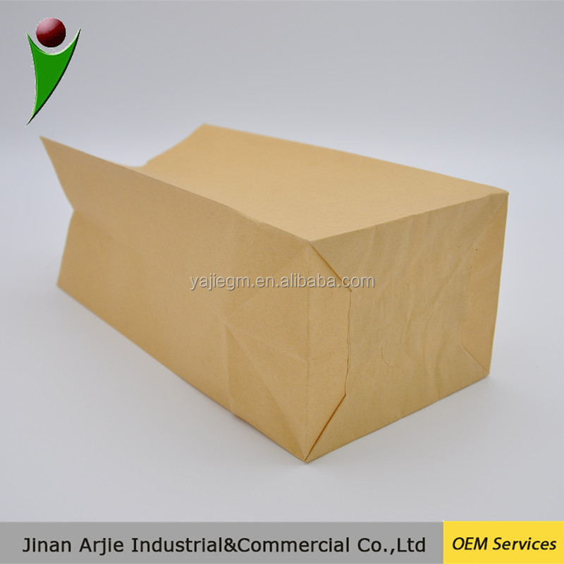 Factory Price Reclosable Stand up Brown Kraft Paper Bag for Food / Kraft Food Paper Bag