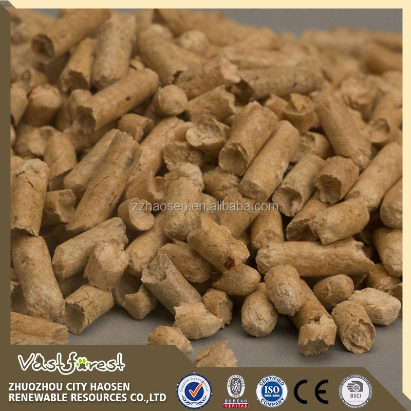 6 mm diameter pine wood carbon cat litter