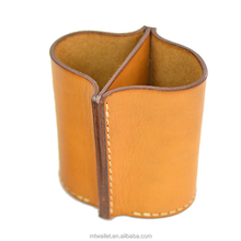 Decorative table pen holder / leather pen container