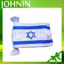 Indoor/Outdoor decorative custom Israel bunting hanging string flag