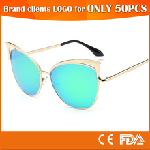 CE FDA mirror cat eye sunglasses women wholesale sun glasses China
